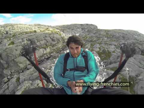 Base Jumper Gets Slingshotted Off Cliff Like Angry