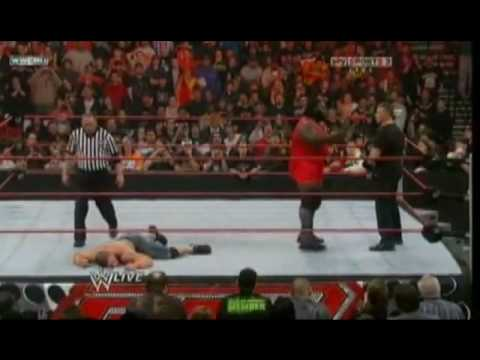 John Cena Vs Six Raw Superstars (Include Batista)