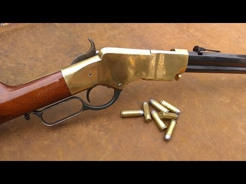 rifle - Shooting and showing the gorgeous 1860 Henry Rifle reproduction by Uberti. Caliber is .45 Colt for this piece of historical beauty! As I have said before, th...