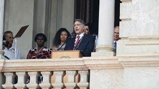VÍDEO: Discurso do Governador Fernando Pimentel no Palácio da Liberdade