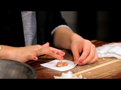 How to Make Wonton & Dumpling Filling   Asian Cooking