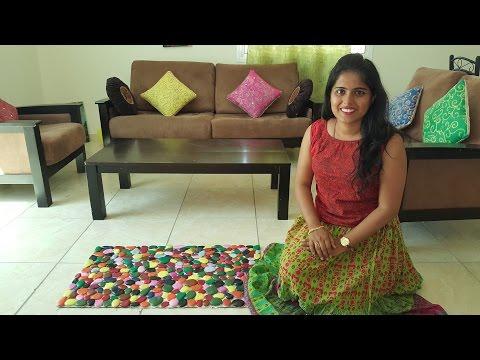 Carpet or Table Runner using Pebble Stones