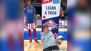 Polski mistrz freestyle'u strollował Harlem Globetrottersa. I kto kogo teraz uczy trików?