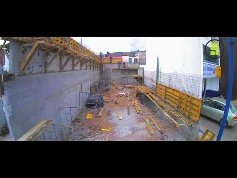 Timelape construccion edifcio CEZAC - Taller Habitat Arquitectos (видео)