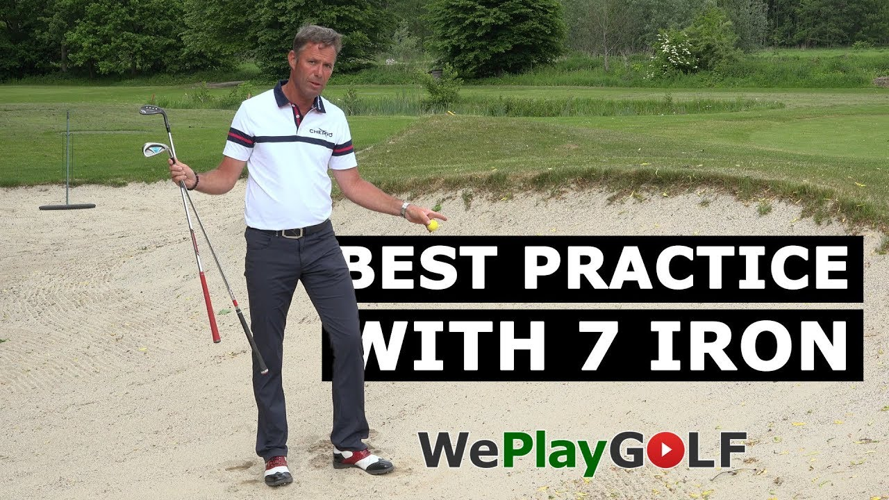 The secret of an easy bunker shot: practice with your 7 iron