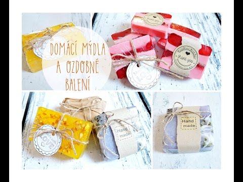 Výroba domácího mýdla a ozdobné balení/ diy homemade soap, wrapping soap