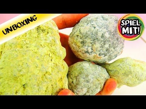 Break Open Real Geodes Unboxing - Kristallsteine öffnen! Glitzernde Steine - Steine zerschlagen!