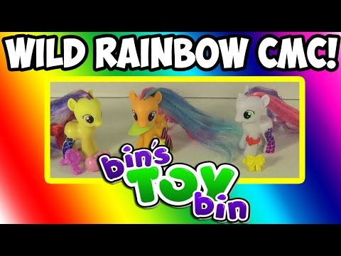 Bin - Get ready for more Ponies as Pony Palooza week continues! Today we open up and review the new Wild Rainbow Cutie Mark Crusaders that are now available at Target stores in the USA for $6.99...