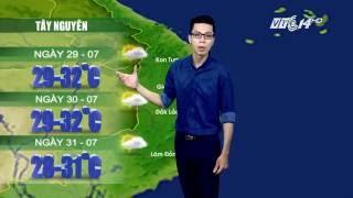 (VTC14)_Thời tiết 12h ngày 29.07.2016, Dự Báo Thời Tiết, Dự Báo Thời Tiết ngày mai, Dự Báo Thời Tiết hôm nay