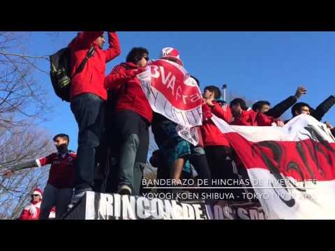 BANDERAZO RIVER PLATE EN TOKYO - Los Borrachos del Tablón - River Plate