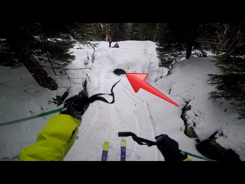 Skiing through pipe gone wrong!