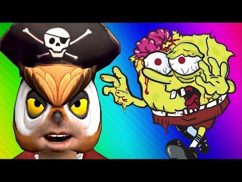 Spongebob Zombies! (Call of Duty WaW Zombies Custom Maps, Mods, & Funny Moments)