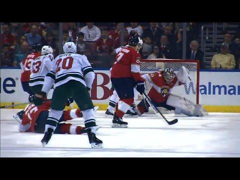 Video: Suter's point shot eludes Reimer