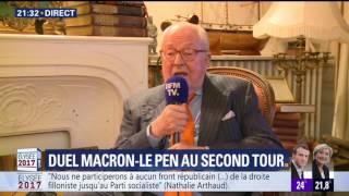 Video Réaction à chaud de Jean Marie Le Pen pendant les élections de 2017 sur BFM TV MP3, 3GP, MP4, WEBM, AVI, FLV Juni 2017