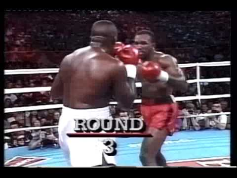 Evander Holyfield knocks out Buster Douglas