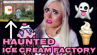 """ABANDONED ICE CREAM FACTORY HAUNTED BY A GHOST GIRL!The old building has been abandoned for years because it is haunted by the ghost of a girl who died there.#TeamBrittyy44#BRITHERINSSUBSCRIBE! New videos every Monday, Wednesday and Friday!FOLLOW ME!http://facebook.com/Brittyy44http://twitter.com/Brittyy44http://instagram.com/Brittyy44Music: Kevin Macleodhttp://incompetech.com""""Gathering Darkness""""""""Ghost Story"""""""