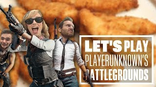 Let's Play PUBG gameplay with Ian, Chris and Aoife - Chicken goujons?!