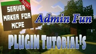This video explains how to use the Admin Fun plugin featured in Server Maker for Minecraft PE, the #1 app to create your own MCPE Server.You can find the application here: Android:https://play.google.com/store/apps/details?id=com.bawztech.mcpeservermakerApple/IOS:https://itunes.apple.com/us/app/server-maker-for-minecraft-pe/id1138832899?mt=8This video was sponsored by one of our users, SnowDriven.You guys should definitely check his channel out it can be found here: https://www.youtube.com/channel/UCzWVOup-HVORNT_XhJm_6CAThe game you see featured in this video is Minecraft: Pocket Edition, this game is published by Mojang, a company owned by Microsoft. We do not have any affiliation with them, nor are we endorsed with them. This video exists for informational purposes only.