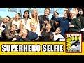 Stan Lee's Superhero Comic Con Selfie with Gambit, X-Men Apocalypse, Deadpool & Fantastic Four Cast