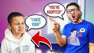 You're ADOPTED PRANK On Little Brother!! **emotional!** (HE CRIED!)
