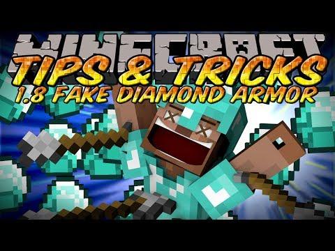 Minecraft Tips And Tricks – Minecraft 1.8 Fake Diamond Armor Skin!