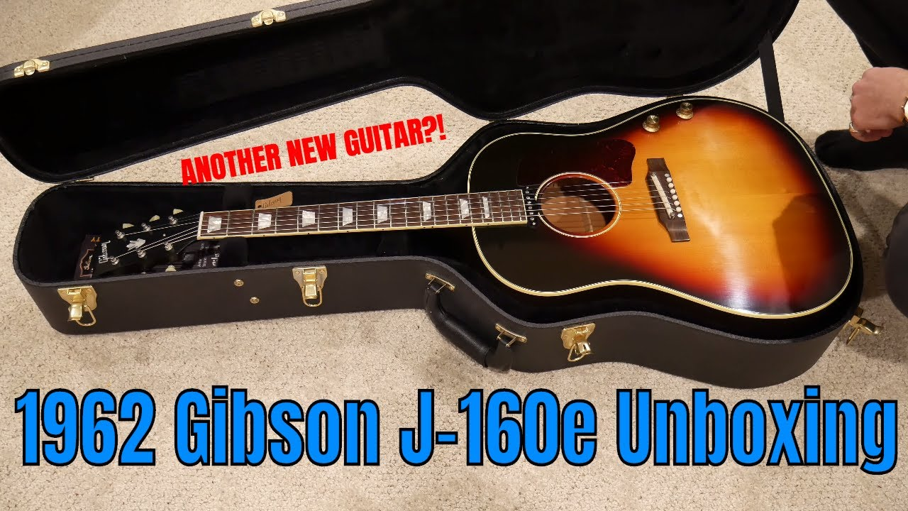 Gibson J-160e 1962 Unboxing & Overview | NEW GUITAR!