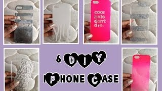 DIY: 6 iPhone Cases ♡ Spray Paint & Glitter - YouTube