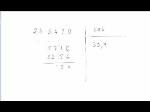 comment poser une division cm2