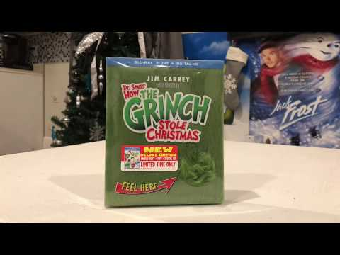 Dr Seuss how the Grinch stole Christmas Blu-ray unboxing