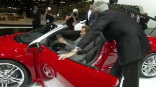 Gov Arnold Schwarzenegger Visits Audi E-tron At The Los Angeles Auto Show