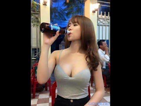 Gái xinh uống rượu lấy tiền và cái kết cho mấy anh