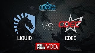 Liquid vs CDEC, game 1