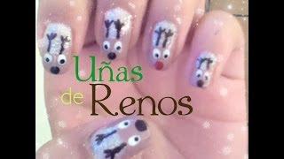 Uñas de Renos/ Navidad - YouTube