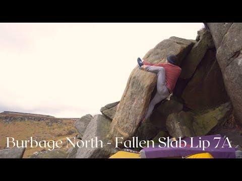Burbage North - Fallen Slab Lip 7A