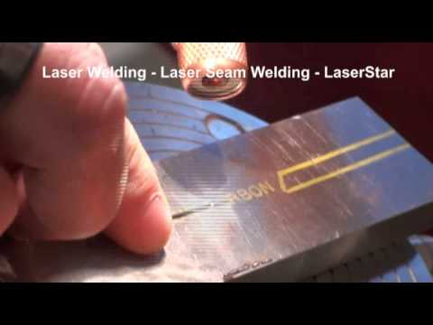 <h3>Laser Welding - Laser Seam Weld </h3>This laser welding video is demonstrating the industrial capabilities of the 1900 series XL 200 watt industrial laser welder. This laser welder is shown repairing a machine tool part with a laser seam weld.<br /><br />