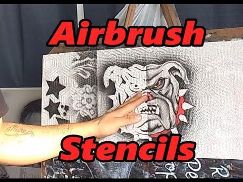 Airbrush Stencil Tutorial