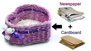 How to make Newspaper Basket for Center Table, Dressing Table, Dining Table. Best Out of Waste Craft. DIY Newspaper Basket. You can buy decorative foam flowe...