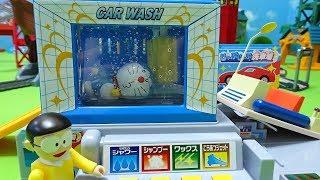 ドラえもんとのび太君が洗車場でタイムマシンを洗おうとしてるよぉ~♪ゆうぴょん♪♪2064