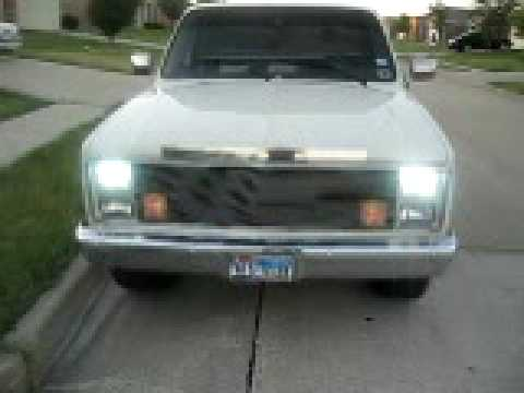 1986 chevy pearl white short bed 2 26''s