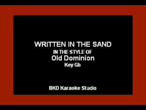 Video Old Dominion - Written In The Sand (Karaoke Version) download in MP3, 3GP, MP4, WEBM, AVI, FLV January 2017