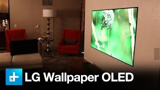 At CES 2017, LG unveiled it's newest W-Series OLED TV, and it's a simple, thin panel that you can attach to a wall. It's called...
