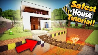 Minecraft: Safest Modern Redstone House Tutorial - How to Build a House in Minecraft