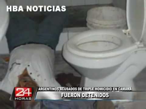 ARGENTINOS ASESINOS DE ANCIANOS EN CAMANA SON DETENIDOS HBA NOTICIAS PERU 2012