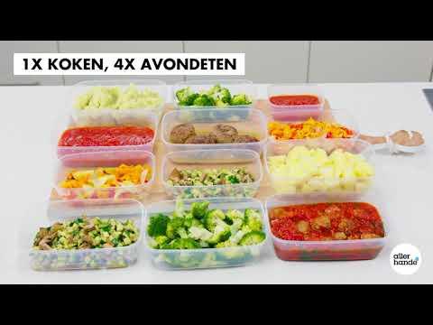 Mealprep: 1x koken, 4x avondeten door zondagkoken - Allerhande