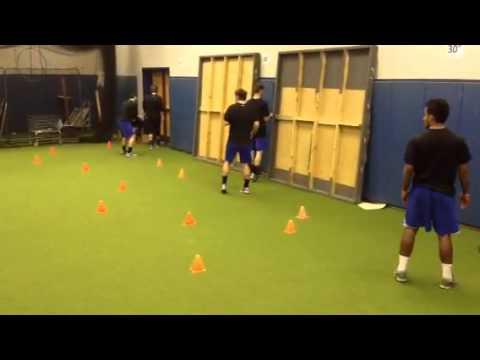 UK Men's Soccer Thursday Footwork exercise