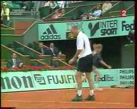Ferrero vs Agassi, Roland Garros 2002