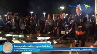 Aksi Meriam Bambu Tutup Pekan Kebudayaan Aceh ke-7