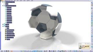Catia V5 Tutorial Generative Shape Design How to create a Soccer Ball Start to Finish Part 5