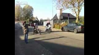 7. Harley Davidson Chopper vs. Sport Bike Race