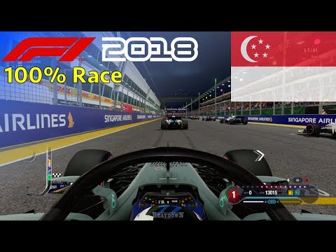 F1 2018 - Let's Make Bottas World Champion #15: 100% Race Singapore